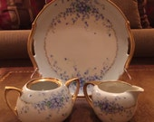 Tillowitz, R S China Shabby Chic Plate With Sugar Bowl and Creamer