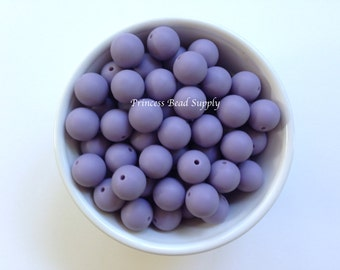 Silicone Beads, 15mm Tropical Lilac Silicone Beads, Silicone Teething Beads,  Silicone Beads Wholesale, Sensory Beads, Teething Beads