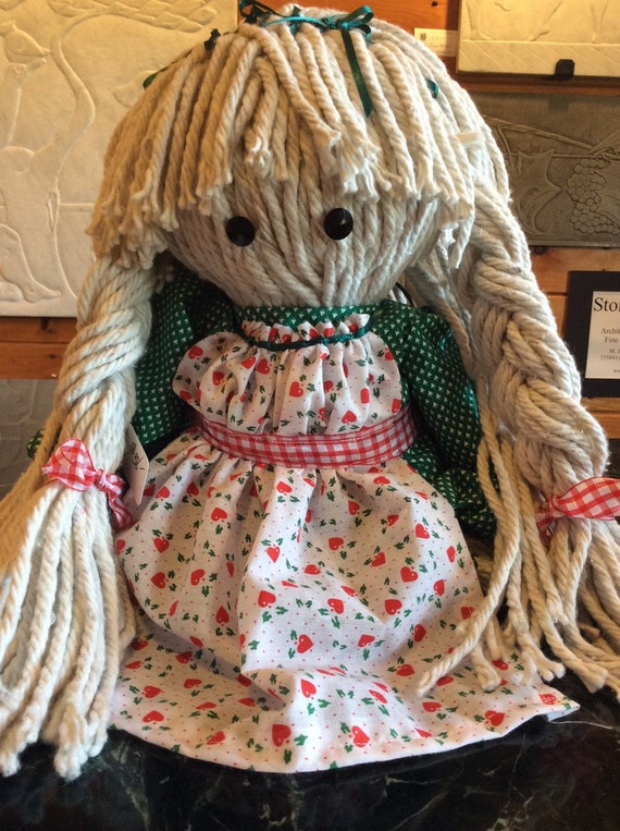 handmade in vermont items similar to vermont moppet mop doll handmade in 671