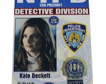 Castle Kate Beckett Prop ID Badge