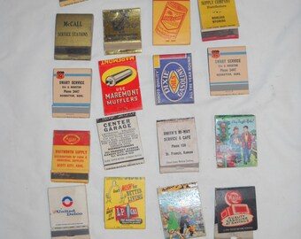 Vintage Collectible Matchbooks, 24 Matchbooks, Oil, Gasoline and Automotive