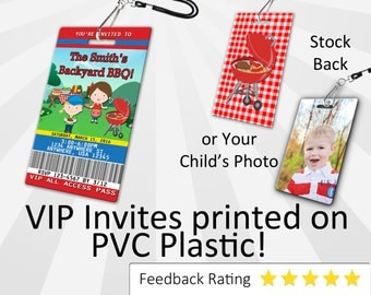 BBQ Invitation PLASTIC Barbecue Birthday, BBQ Birthday Invitation, Birthday Invite, Barbecue 1st Birthday