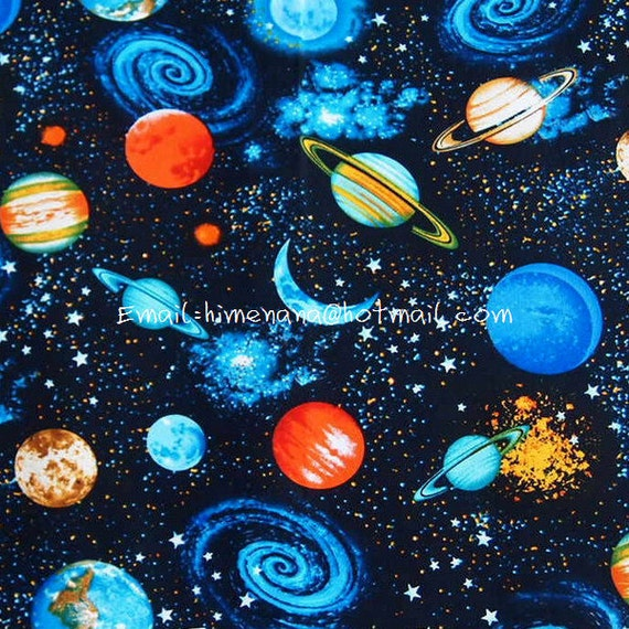 Xx043 1 yard cotton woven fabric galaxy by nanafabricstore for Cosmic print fabric
