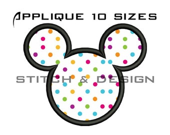 MICKEY MOUSE Embroidery Design Mickey Mouse APPLIQUE Design Mickey Applique Design Mickey Embroidery Design Mickey Head Applique No:033