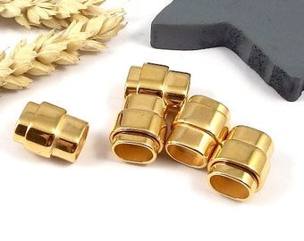 5 Golden snaped magnectic clasp for reglisse leather