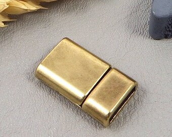 1 clasp magnetic dishes extra bronze leather flat 10mm