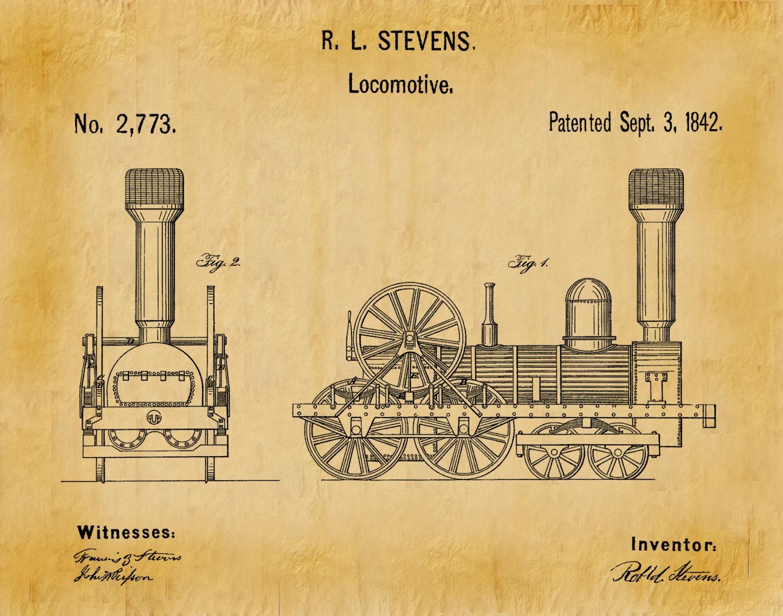 Patent 1842 locomotive steam engine art print railroad patent patent 1842 locomotive steam engine art print railroad patent poster wall art railway station art train station art amtrak art malvernweather Gallery