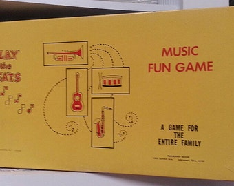 Play the Beats 1963 vintage board game