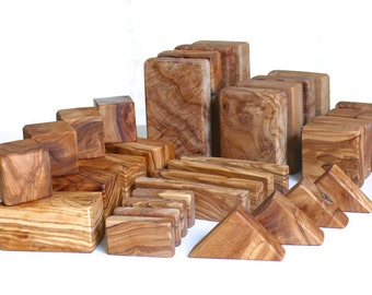 Building bricks for kids STARTERSET 2 (32 pieces) Olive Wood