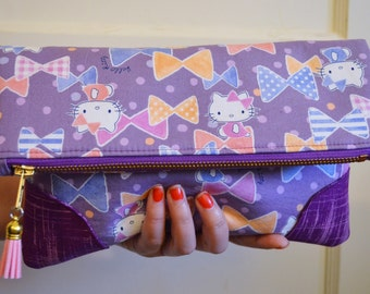 Hello Kitty Fold Over Clutch Bag