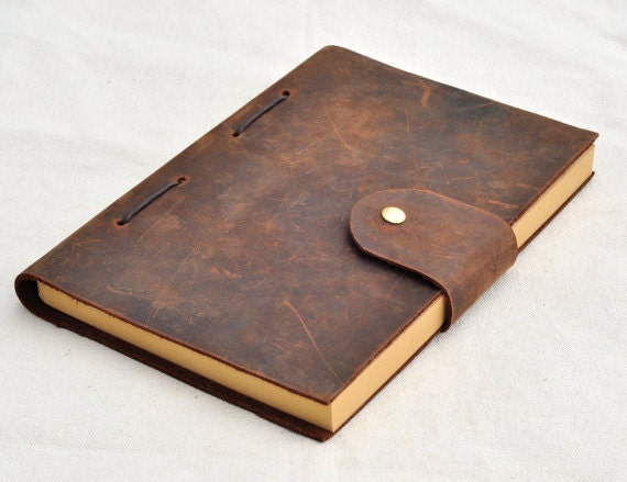 Personalized leather journal leather notebook gifts for him