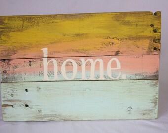 Home Wall Decor Sign