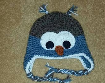 Toddler owl hat