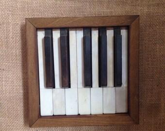 Framed Piano Keys, Piano key picture, piano keys