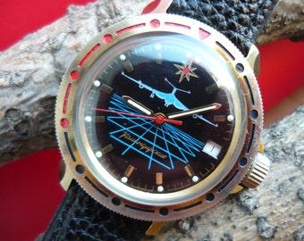 Soviet watch Vostok  long-range aviation / Vintage wrist watch / men's Watch Wostok / Mechanical watch / USSR / Soviet Union / komandirskie