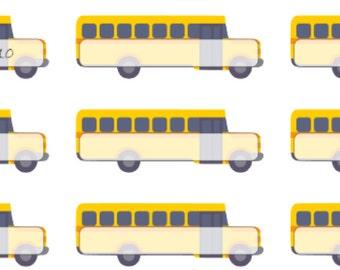 School Bus Note   Reminder   Field Trip   Ride Bus   Planner Stickers   Matte   Glossy