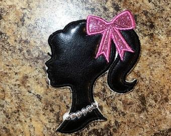 Barbie Inspired Iron On Applique