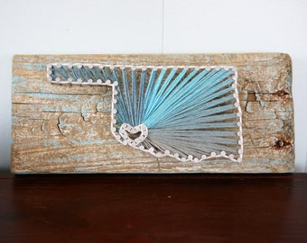 Oklahoma Driftwood String Art