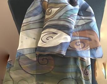 hand painted silk scarves hand painted silk scarf