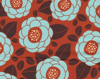 Ginseng Decor Weight by Joel Dewberry for Westminster Fibers  - Bloom in Color Rust - Half Yard Cut - Cotton Sateen