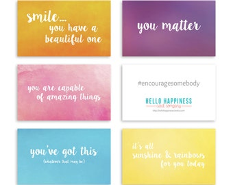 Mini Encouragement Cards - Bright I - ME02