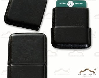 Black Leather Card Holder, black leather business card holder
