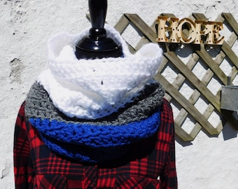 READY TO SHIP!!! Oversized Color Block Hooded Cowl