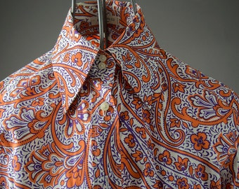1960's style Etro Shirt, made in Italy , ladies size 42