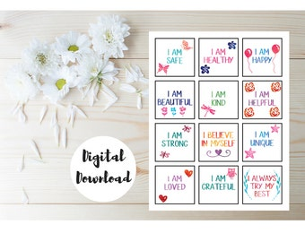 Affirmation Cards - Affirmations For Kids - Positive Affirmations For Kids - Daily Affirmations - Inspirational Cards - Positive Thinking