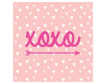 PRINTABLE-Valentine Favor Tags-Stickers, Valentine's Day Cards, Valentine's Day, XOXO Favor Tags