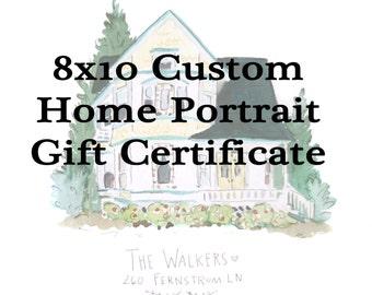 Gift Certificate - 8x10 Home Portrait