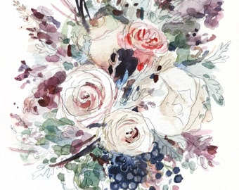 Custom Bouquet Watercolor Painting