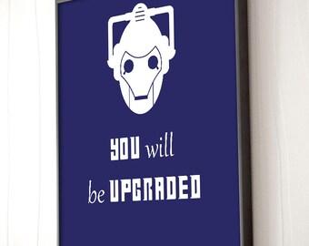 Doctor Who Poster - Cybermen - Dr. Who Print - Tardis - Framed Art - Canvas Print