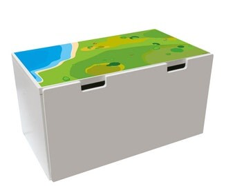 """Play room: Furniture sticker """"Playground"""" for IKEA STUVA Storage Bench (1M-ST02-05) - Furniture not included"""
