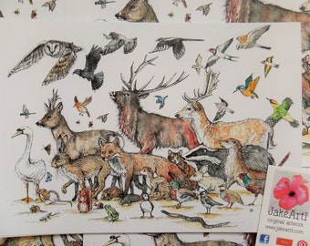 A Celebration of British Wildlife, British Wildlife, Art prints, prints
