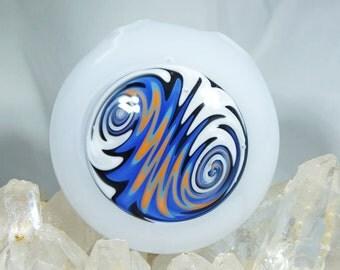 White x Orange x Blue Wig Wag Disk Pendant