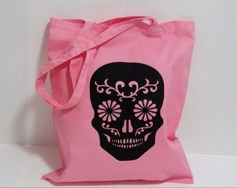 Sugar Skull Tote Shopper bag ONE ONLY my most popular bags