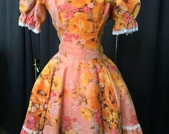1960s Fun Floral Dress