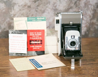 Classic Polaroid Model 80A Land Camera with Original Packaging