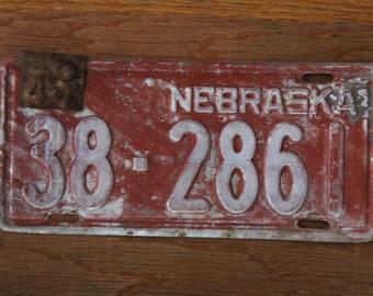 Nebraska 1947 license plate