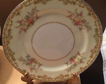 """Two 7"""" Vintage Noritake Nanarosa Plates"""