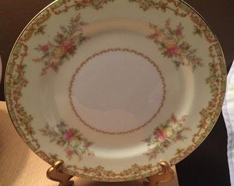 "Two 7"" Vintage Noritake Nanarosa Plates Salad Plates Lunch Plates"