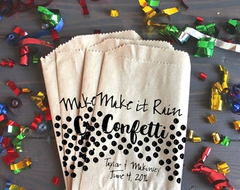 Wedding Favor Bags, Wedding Favors, Party Bags, Make it Rain, Confetti, Favor Bags, Party Favor Bag, Goodie Bag, Paper Party Bags, Set of 20
