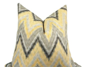 Throw Pillow, Yellow Pillow Cover, Accent pillow, Yellow White Pillow, Pillow Cover, Home Decor, Designer Fabric, Sofa pillow, any sizes