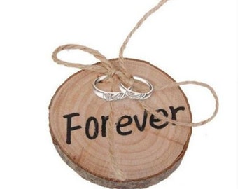 Rustic Wood Slap Ring Bearer Pillow - Wedding Ceremony - Tie the Knot - Forever