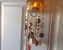 RESERVED for JOHANNA Ethan Allen Inspired Mobile/Chime Mobile/Beaded Mobile/Home Decor Mobile/Candle Mobile