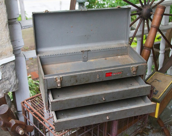 Vintage Craftsman 2 Drawer Mechanics Tool Chest Tool Box