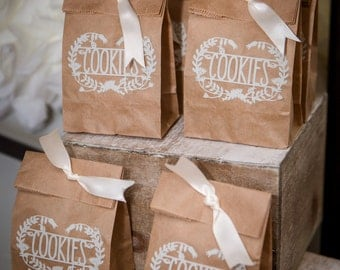 12 Cookie Party Favor Bags