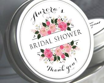 12 Bridal Shower Mint Tins, Personalized Mint Favor Mint to Be Wedding Favor Personalized Bridal Shower Favor, Mint Tin Favors