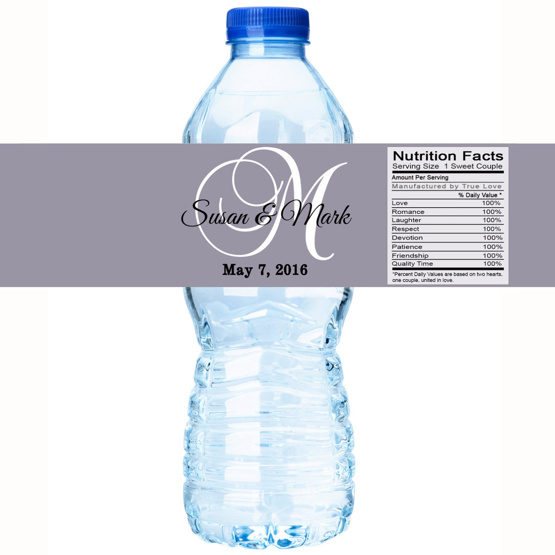Water Bottle Wedding Favors Giftwedding Co